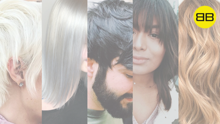 Great Hair Day | Grid of 5 hairstyles created by Bubbles Salons Salon Pros