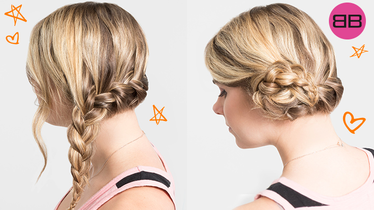 #BubblesBesties Air Dry Hair Styles | Beach Braid + Side Tuck: Two finished styles on model Amanda's long blonde hair