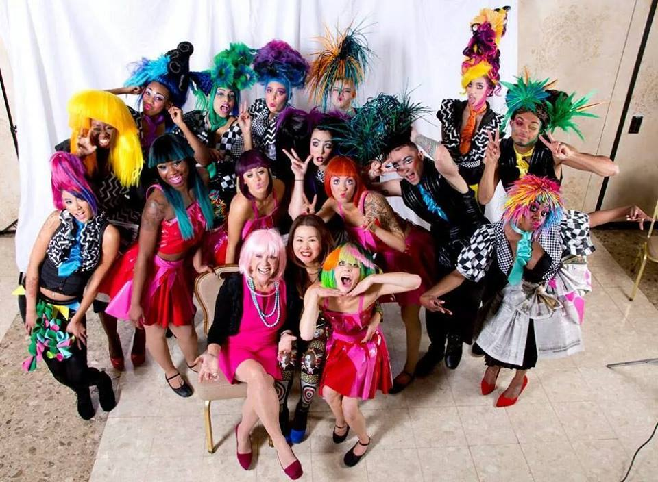 Ann Ratner, Sharon So and the Towson Bubbles Salon team at Hair Wars 2012