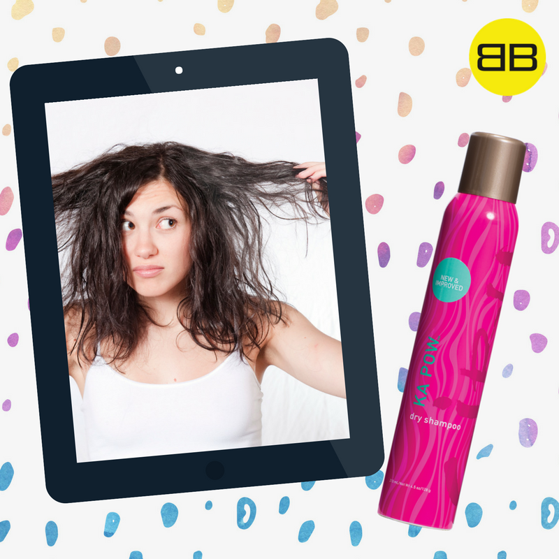 Cibu Hair Products Solve Top Hair Concerns | Image of model with oily hair with bottle of Ka Pow