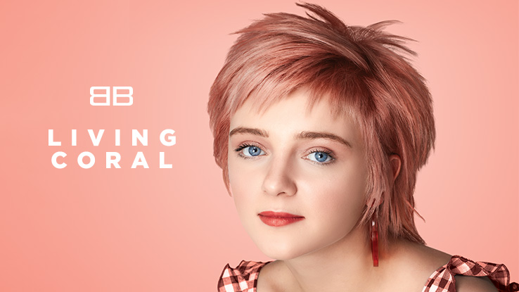 pantone color of the year 2019 coral hair